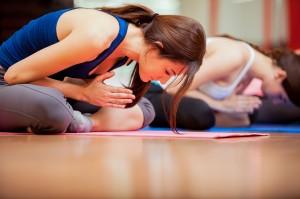 Meditation at yoga class